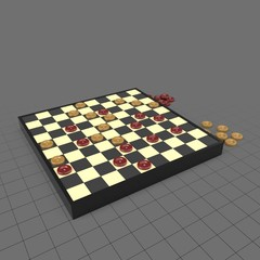 Checkers with board