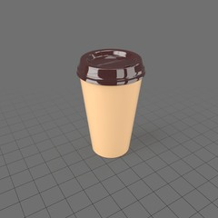 Coffee cup with plastic lid