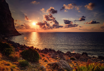Picturesque Sunset at the Sea