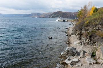 on the shore of lake Baikal