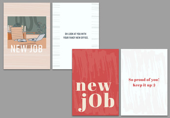 New Job Greeting Card Set Layout 1