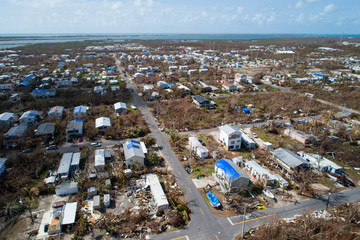 Hurricane Irma aftermath in the Florida Keys