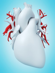 3d rendered medically accurate illustration of the pulmonary artery