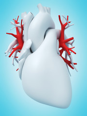 3d rendered medically accurate illustration of the pulmonary veins