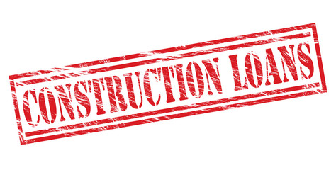 construction loans red stamp on white background