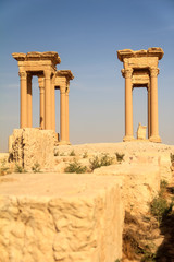 The ruins of the ancient city Palmyra, Syria