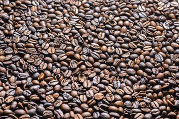 Coffee beansas a background. Texture