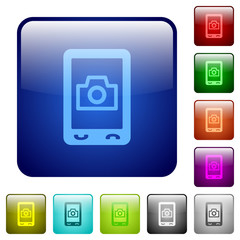 Mobile photography color square buttons