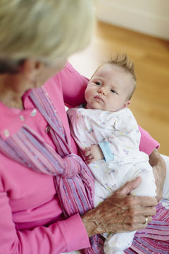 Grandmother Meeting Granddaughter for First Time