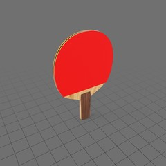 Wooden ping pong paddle 2