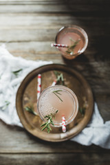 Grapefruit juice with rosemary