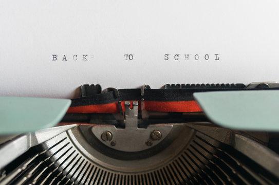 Back to school typewritten