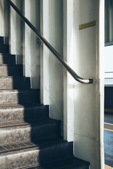 Stairs and handrail on ferry boat