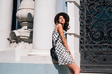 Woman Enjoying Sun in the City