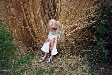 girl in the shrub