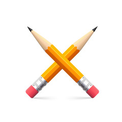 Icon of simple pencil for sketching
