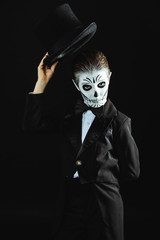 elegant skeleton kid