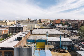 Artist Commune Neighborhood of Factories and Converted Lofts in Industrial Zone of East Williamsburg in Brooklyn, New York