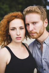 Ginger couple portrait