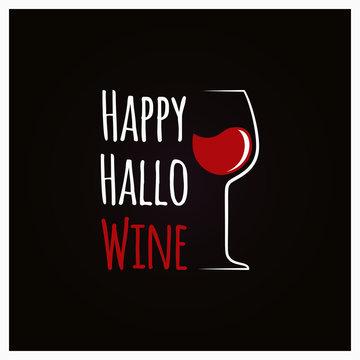 Happy Halloween Wine Concept Sign Background