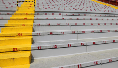 Papiers peints Stade de football many numbers on the stadium bleachers
