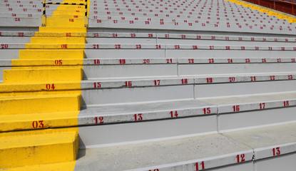 Photo sur Aluminium Stade de football many numbers on the stadium bleachers
