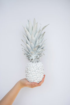 Portrait of white pineapple