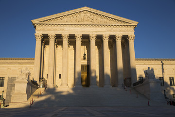 Supreme Court of the United States of America in the afternoon in Washington District of Columbia