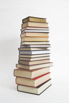Stack of hardback books...
