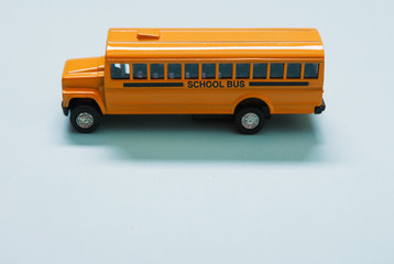 School Bus Metal Toy Vehicle From The Side