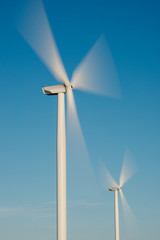 windmills in movement
