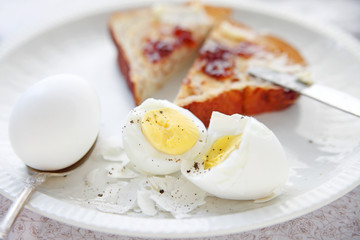 Eggs and toast breakfast