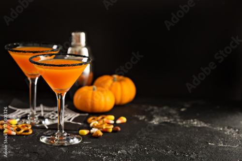 Halloween or fall cocktail pumpkintini