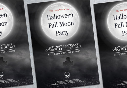 Halloween Party Flyer Layout 6