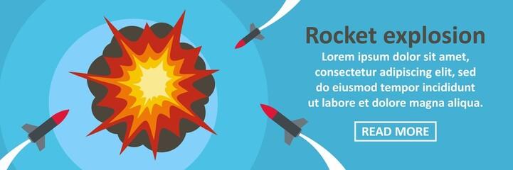 Rocket explosion banner horizontal concept