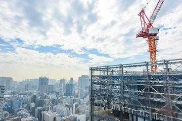 東京都心のビル建設現場