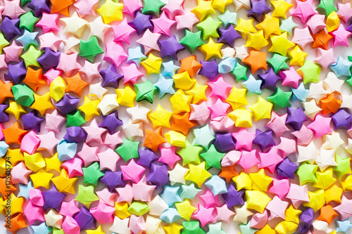 Origami Stars Background Stock Photo And Royalty Free Images On