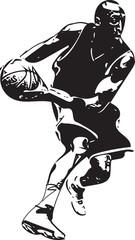Sketch of basketball player