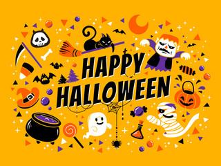 Happy halloween poster Fotoväggar