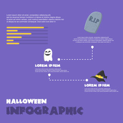 Halloween Infographic on purple background