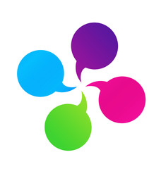 Bubble speech group communication icon vector