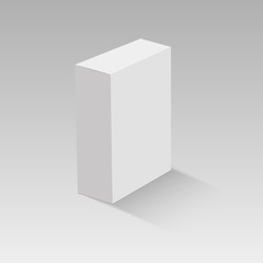 Blank vertical paper box. Vector illustration
