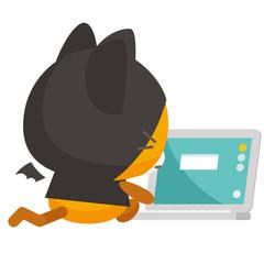 ネコとーく。デビル+パソコン