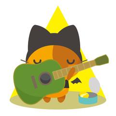 ネコとーく。デビル+ギター