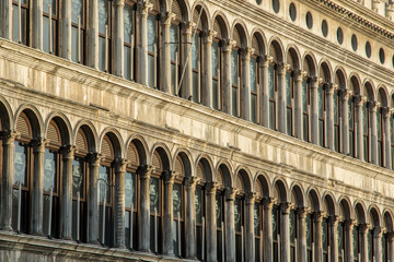 Repeating windows patterns of Doges Palace