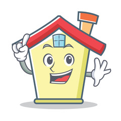 Finger house character cartoon style