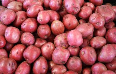 Fresh potato in the supermarket for sale