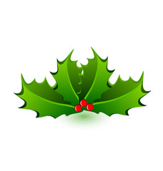Christmas mistletoe celebration icon vector