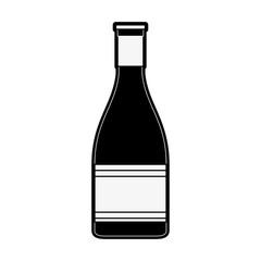 wine bottle icon image vector illustration design  black and white