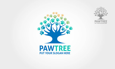 It's a paw incorporate with a tree object, this logo try to communicate a protection for your dog/cat or other pet animal.